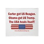 USA Heals Itself Throw Blanket
