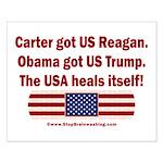 USA Heals Itself Small Poster