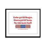 USA Heals Itself Framed Panel Print