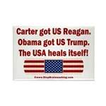 USA Heals Itself Rectangle Magnet