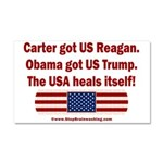 USA Heals Itself Car Magnet 20 x 12