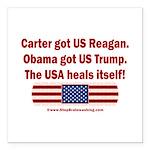 USA Heals Itself Square Car Magnet 3