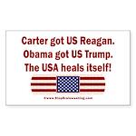 USA Heals Itself Sticker (Rectangle)