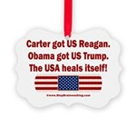 USA Heals Itself Picture Ornament