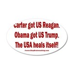USA Heals Itself 20x12 Oval Wall Decal