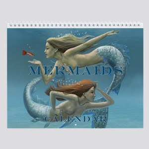 Mermaids (some Bare) Wall Calendar