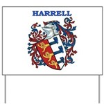 Harrell Coat of Arms Yard Sign