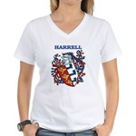 Harrell Coat of Arms Women's V-Neck T-Shirt