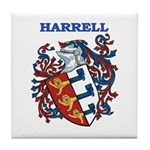 Harrell Coat of Arms Tile Coaster
