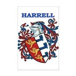 Harrell Coat of Arms Mini Poster Print