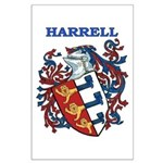 Harrell Coat of Arms Large Poster