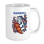 Harrell Coat of Arms Large Mug