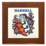 Harrell Coat of Arms Framed Tile
