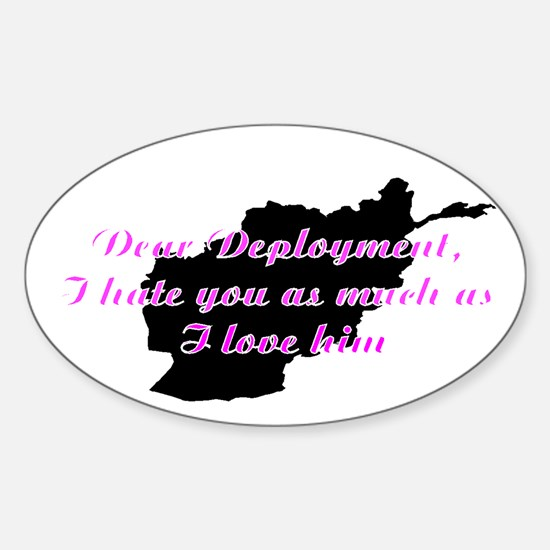 love/hate afgan Sticker (Oval)