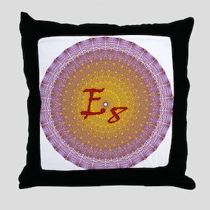 E8 Lie Gold Throw Pillow