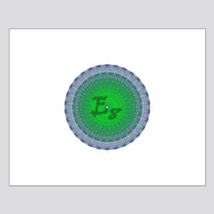 E8 Lie Green Small Poster