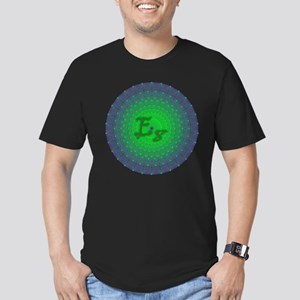 E8 Lie Green Men's Fitted T-Shirt (dark)
