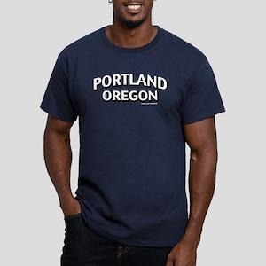 Portland Oregon Men's Fitted T-Shirt (dark)