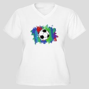Soccer Fan Women's Plus Size V-Neck T-Shirt
