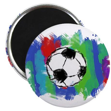 """Soccer Fan 2.25"""" Magnet (10 pack)"""