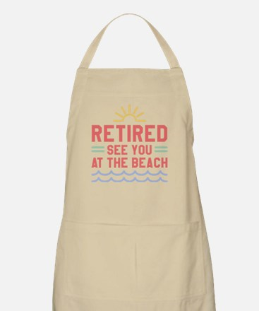 Retired See You At The Beach Light Apron