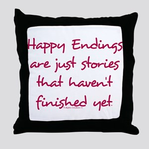 Happy Endings Finished Throw Pillow