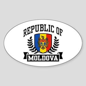 Republic of Moldova Sticker (Oval)