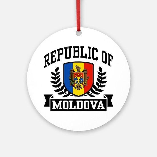 Republic of Moldova Ornament (Round)