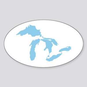 Great Lakes Sticker (Oval)