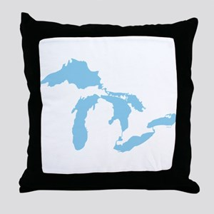 Great Lakes Throw Pillow