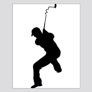 Angry Golfer Small Poster