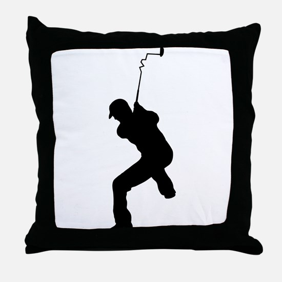Angry Golfer Throw Pillow