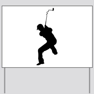 Angry Golfer Yard Sign