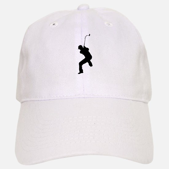 Angry Golfer Baseball Baseball Cap