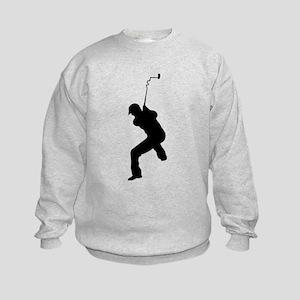 Angry Golfer Kids Sweatshirt