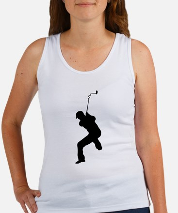 Angry Golfer Women's Tank Top