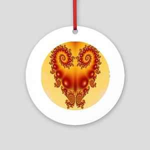 Heart Fractal Ornament (Round)