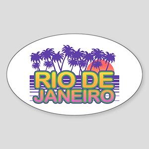 Rio De Janeiro Sticker (Oval)