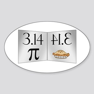 PI 3.14 Reflected as PIE Sticker (Oval)