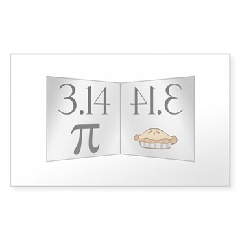 PI 3.14 Reflected as PIE Sticker (Rectangle)