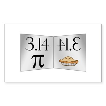 PI 3.14 Reflected as PIE Sticker (Rectangle 10 pk)