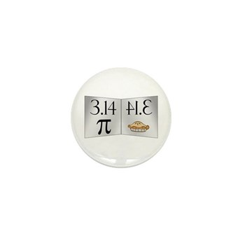 PI 3.14 Reflected as PIE Mini Button (10 pack)
