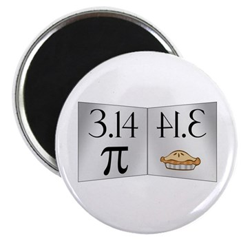 "PI 3.14 Reflected as PIE 2.25"" Magnet (10 pac"