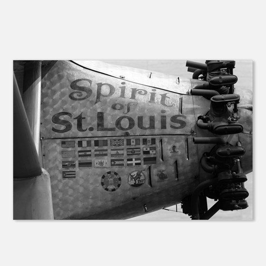 Spirit of St. Louis B&W Postcards (Package of 8)
