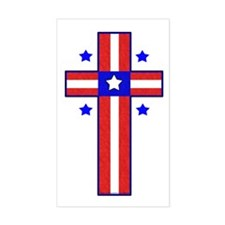 Christian Cross Sticker (Rectangle)