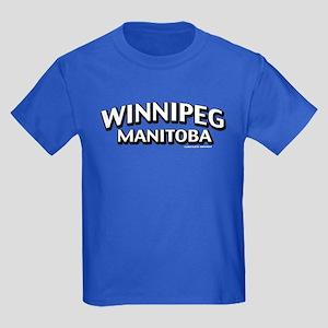 Winnipeg Manitoba Kids Dark T-Shirt