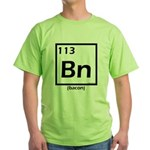 Elemental bacon periodic table Green T-Shirt
