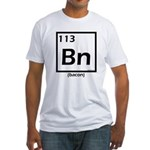 Elemental bacon periodic table Fitted T-Shirt