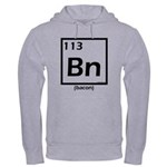 Elemental bacon periodic table Hooded Sweatshirt