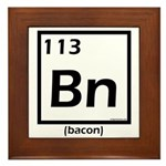 Elemental bacon periodic table Framed Tile